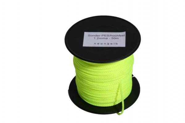 Lotschnur 1,2 mm neon-gelb, Mindestabnahme: 20 Stück