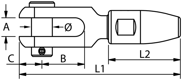 BLUE-WAVE-Gabelterminal-Zeichnung