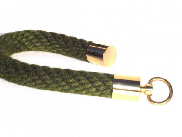 Farbiges Handlaufseil mit Messing-Beschlägen für aussen oder innen