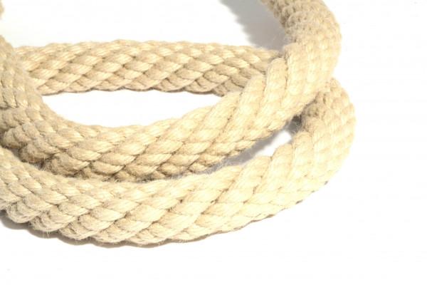 Handlaufseil Kunstfaser, hanffarben, für aussen oder innen